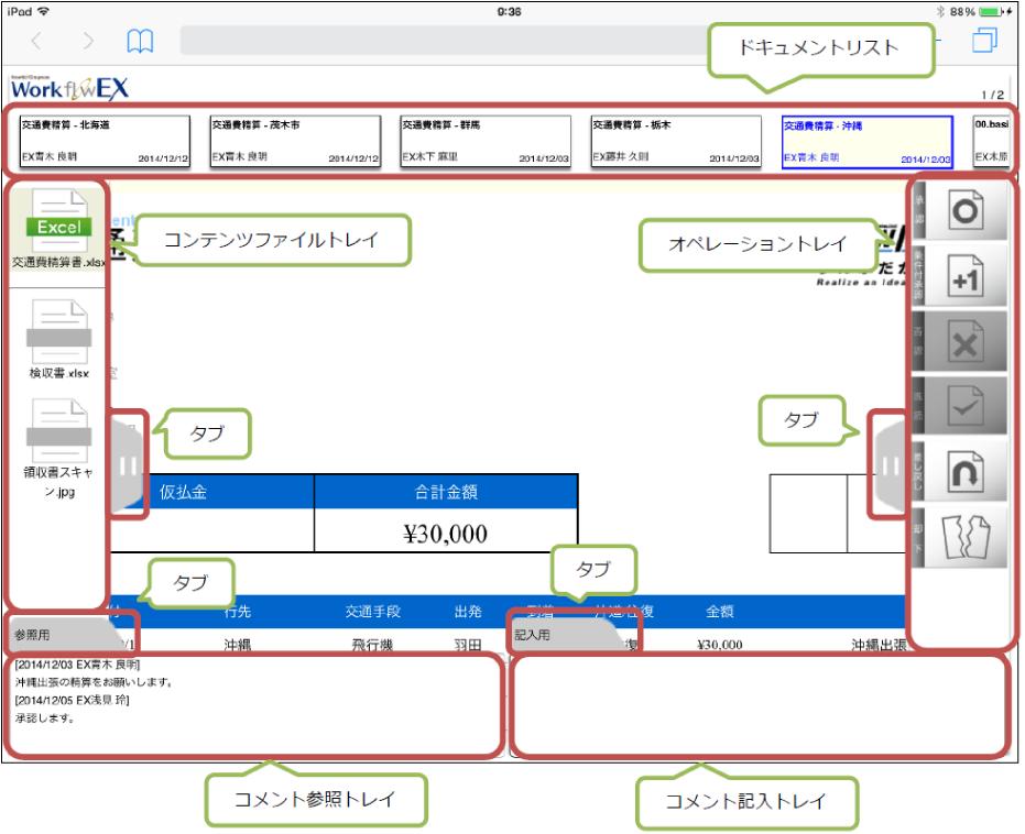 アプリケーション画面構成イメージ