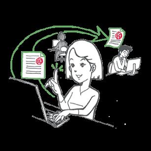 ワークフローシステム文書管理の課題1
